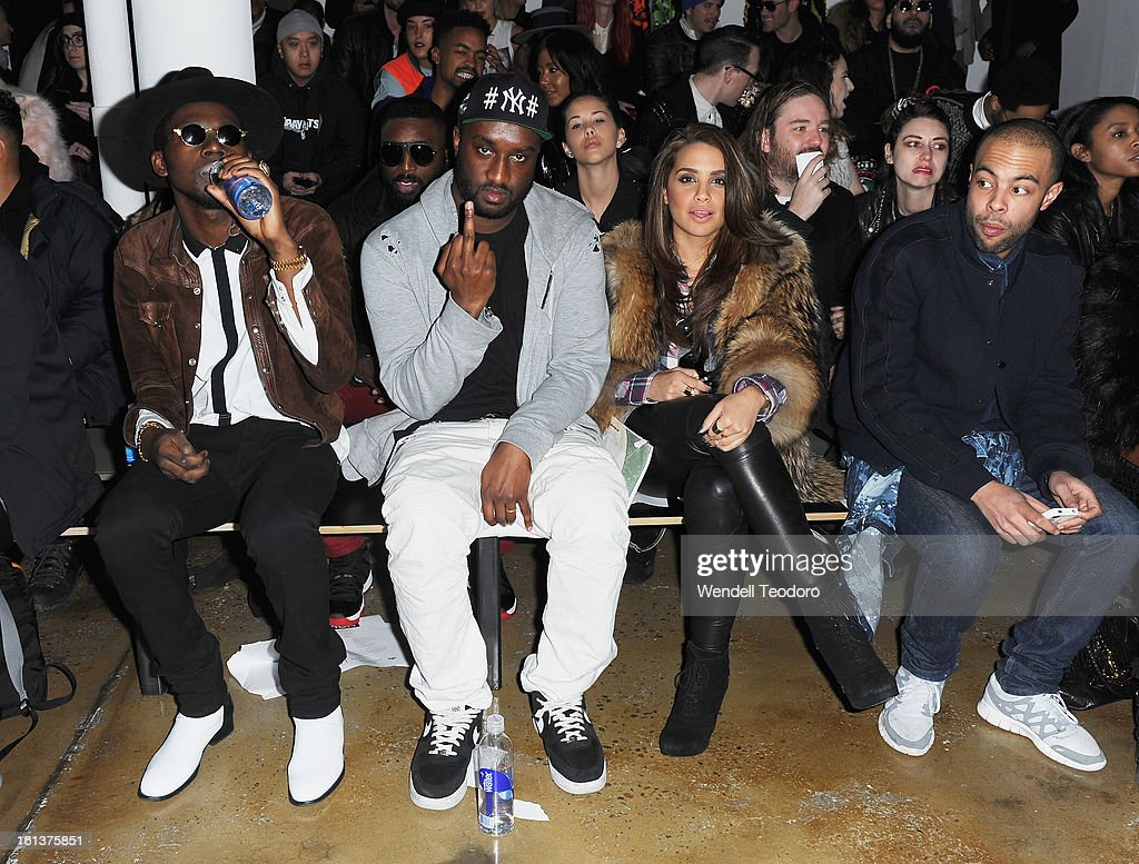 <a gi-track='captionPersonalityLinkClicked' href=/galleries/search?phrase=Theophilus+London&family=editorial&specificpeople=5770992 ng-click='$event.stopPropagation()'>Theophilus London</a>, Virgil Abloh and Mirtha Michelle attend Hood by Air during Fall 2013 MADE Fashion Week on February 10, 2013 in New York City.