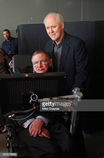 Theoretical physicist Stephen Hawking and actor John Lithgow attend the 2010 World Science Festival Opening Night Gala at Alice Tully Hall Lincoln...