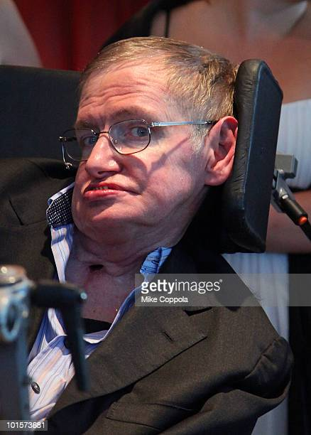 Theoretical physicist Stephen Hawking attends the 2010 World Science Festival Opening Night Gala at Alice Tully Hall Lincoln Center on June 2 2010 in...