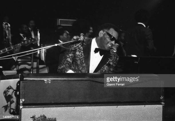 Ther american musician Ray Charles in Madrid Madrid Spain