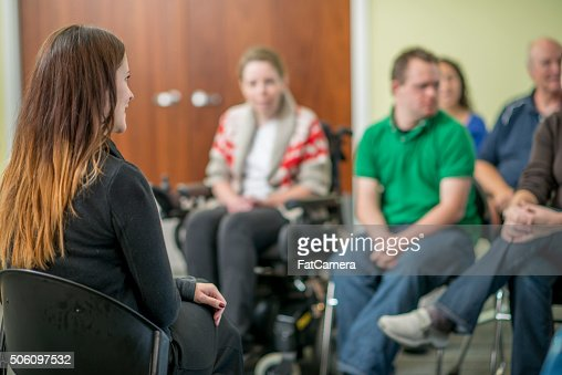 Therapist Leading a Adult Discussion