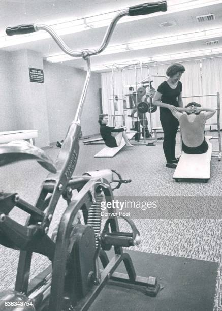 There are contraptions galore to tone the muscles and the women take full advantage of them on ladies' day in the Denver Athletic Club's health...