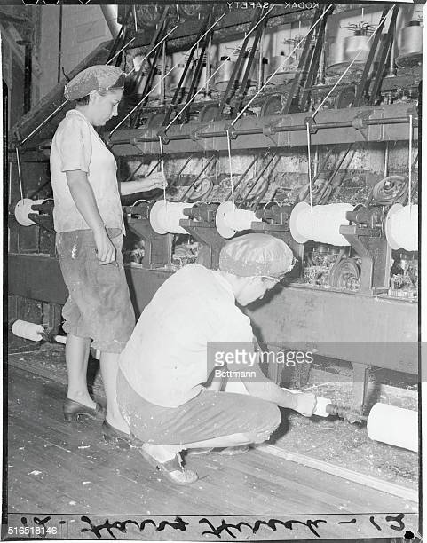 There are few empty work benches at the Bridgeport Brass Co world's largest producer of cartridge casings during the war