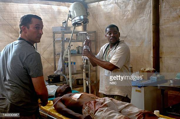ER 'There Are No Angels Here' Episode 20 Air Date Pictured Noah Wyle as Doctor John Carter Mekhi Phifer as Doctor Gregory Pratt Photo by David...