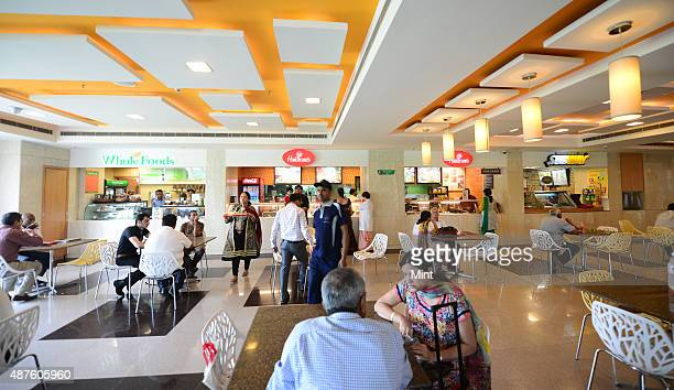 There are number of food courts and cafes for the convenience of visitors and attendants at Fortis Hospital on September 9 2014 in Gurgaon India