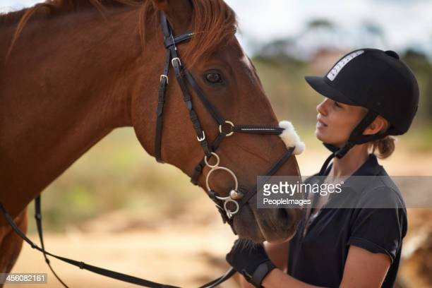 There is a bond between horse and rider