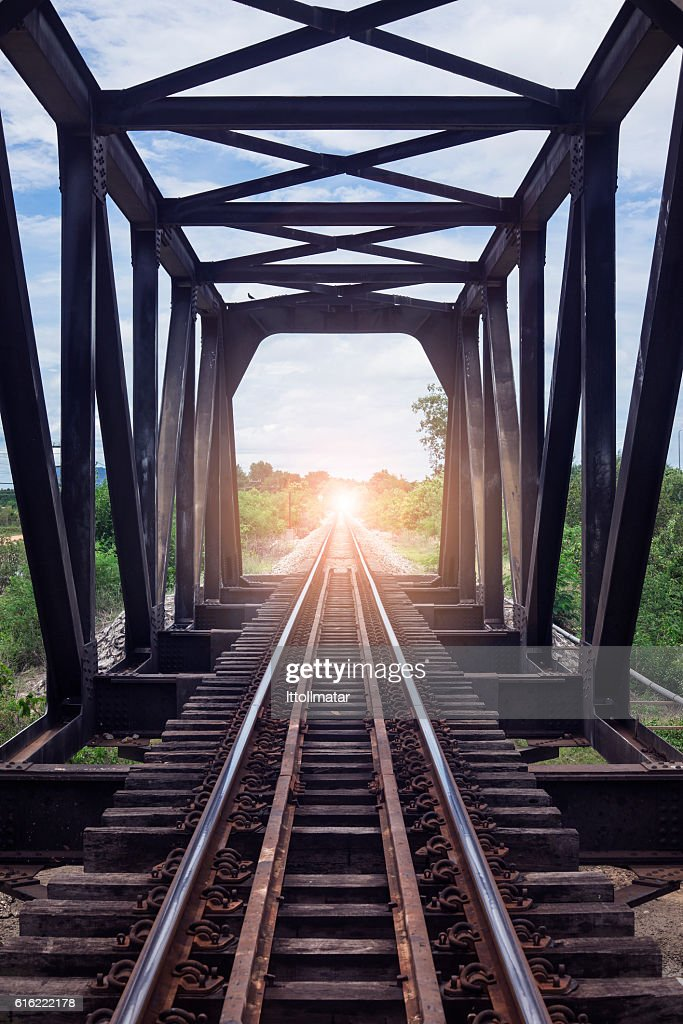 There light at the end of the tunnel', success way : Stock Photo