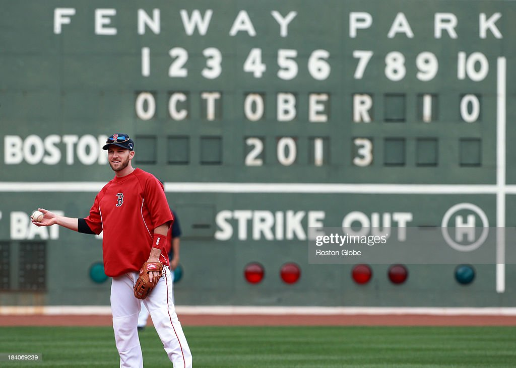 There will be October baseball at Fenway Park for the first time in a while, as Stephen Drew and the rest of the Red Sox will host Game One of the ALCS on Saturday night. The Boston Red Sox had a workout at Fenway Park in preparation for Game One of the ALCS against either Oakland or Detroit.