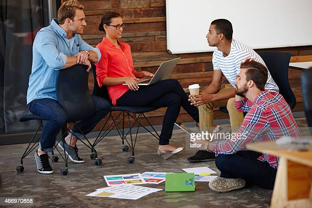 There's a creative brainstorm going on in here
