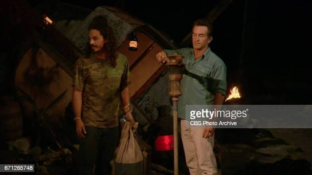 'There's A New Sheriff in Town' Jeff Probst extinguishes Oscar 'Ozzy' Lusth's torch at Tribal Council on the eighth and ninth episode of SURVIVOR...