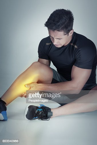 There's always the risk of injury : Stockfoto