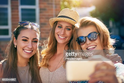 There's always time for a selfie : Stock Photo