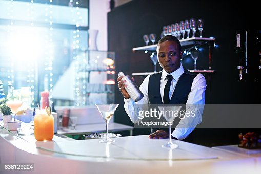 Bartender Wiping Down Bar Stock Photo | Getty Images
