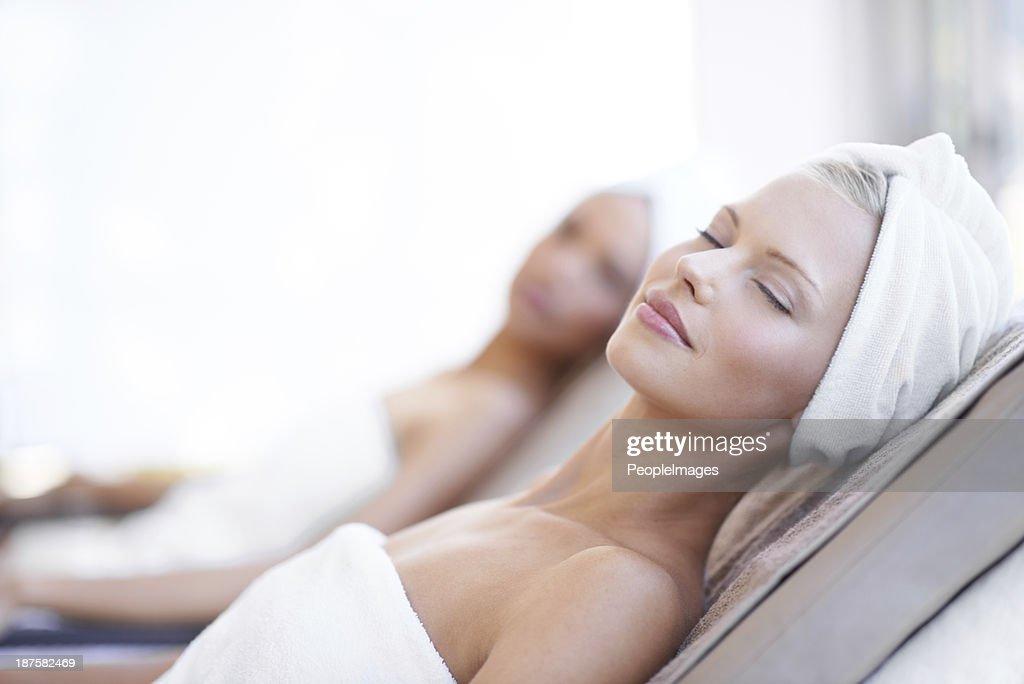 Non c'è niente di meglio di una giornata nella spa : Foto stock