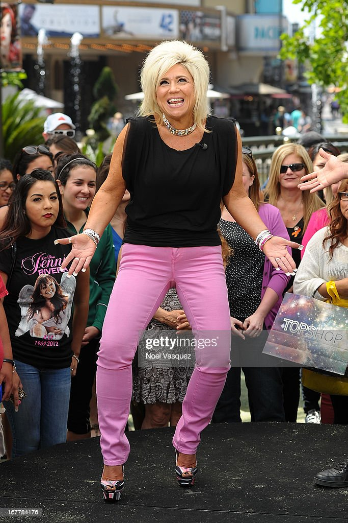 Theresa Caputo visits 'Extra' at The Grove on April 29, 2013 in Los Angeles, California.