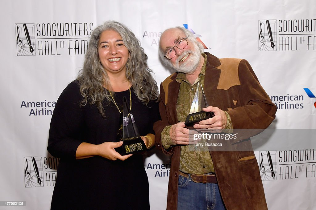 Theresa Garcia and Robert Hunter attend at the Songwriters Hall Of Fame 46th Annual Induction And Awards at Marriott Marquis Hotel on June 18 2015 in...