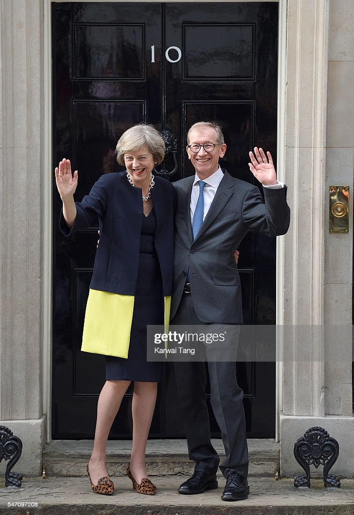 Theresa May and husband Philip John May enter 10 Downing Street on July 13, 2016 in London, England. Former Home Secretary Theresa May becomes the UK's second female Prime Minister after she was selected unopposed by Conservative MPs to be their new party leader. She is currently MP for Maidenhead.