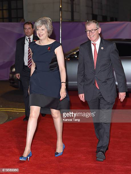 Theresa May and Philip John May attend the Pride Of Britain Awards at The Grosvenor House Hotel on October 31 2016 in London England