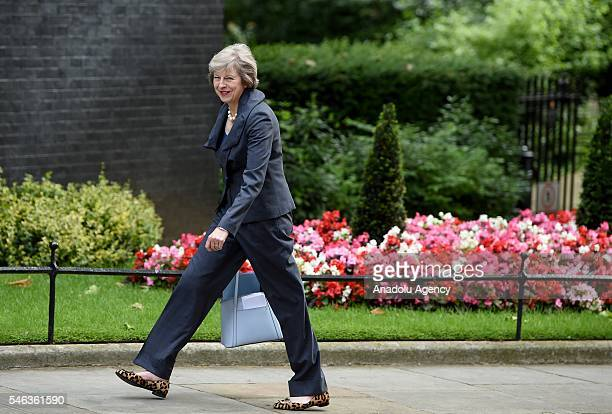 Theresa May arrives for David Cameron's final cabinet meeting as Prime Minister after six years in 10 downing street before she takes over and...