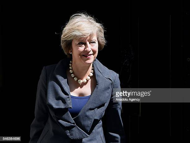 Theresa May departs from David Cameron's final cabinet meeting as Prime Minister after six years in 10 downing street before she takes over and...