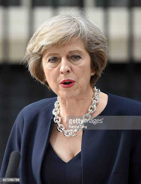 Theresa May enters 10 Downing Street on July 13 2016 in London England Former Home Secretary Theresa May becomes the UK's second female Prime...