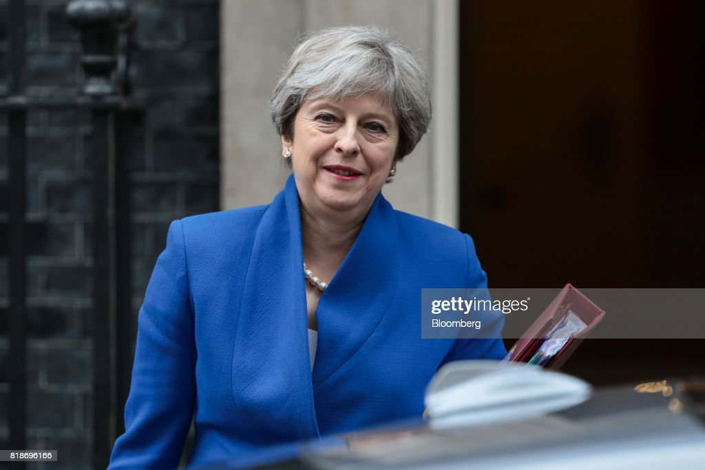 U.K. Prime Minister Theresa May Attends Weekly Questions And Answers Session : News Photo
