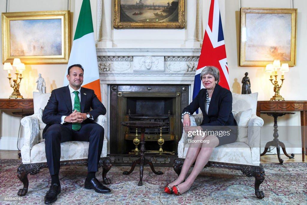 U.K. Prime Minister Theresa May Hosts Her Irish Counterpart Leo Varadkar