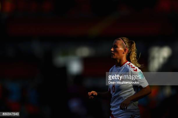 Theresa Nielsen of Denmark looks on during the Final of the UEFA Women's Euro 2017 between Netherlands and Denmark at FC Twente Stadium on August 6...