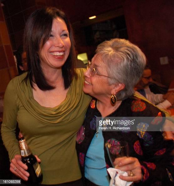 ELECTIONS07PENA_HOYT ABOVE: Theresa Pena Left, Gets A Hug