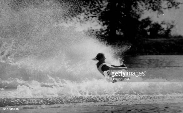 Theresa Speak from a famous waterskiing family goes through her run in threeday tournament Credit Denver Post