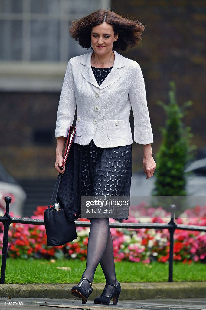 <a gi-track='captionPersonalityLinkClicked' href=/galleries/search?phrase=Theresa+Villiers&family=editorial&specificpeople=2122013 ng-click='$event.stopPropagation()'>Theresa Villiers</a>, Secretary of State for Northern Ireland arrives for a cabinet meeting at Downing Street on June 27, 2016 in London, England. British Prime Minister David Cameron is due to chair an emergency Cabinet meeting this morning, after Britain voted to leave the European Union. Chancellor George Osborne spoke at a press conference ahead of the start of financial trading and outlining how the Government will 'protect the national interest' after the UK voted to leave the EU.