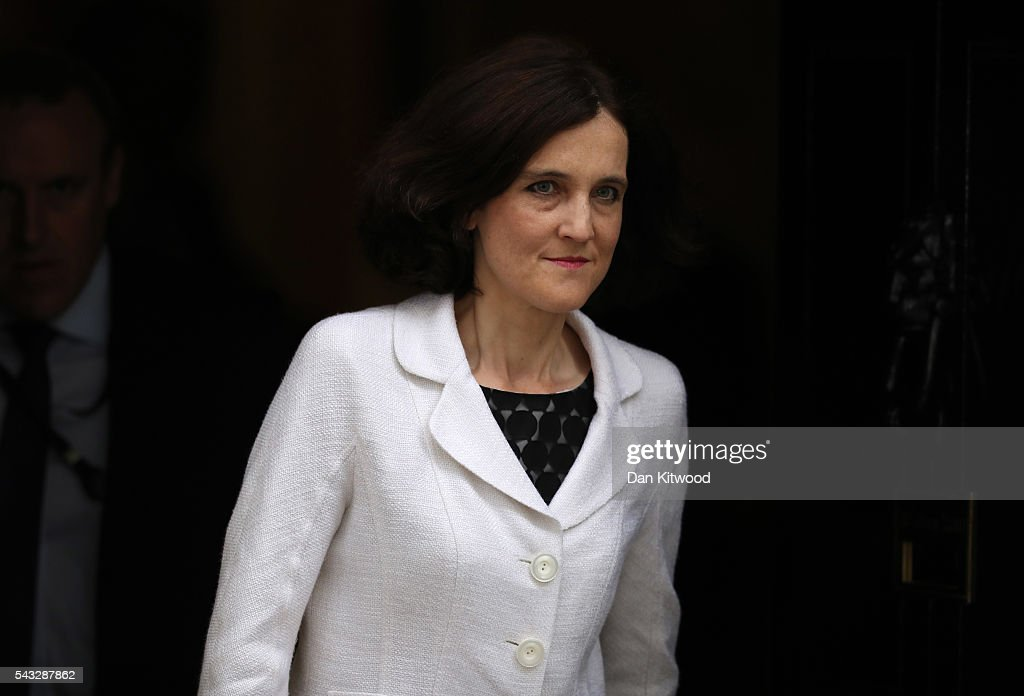 <a gi-track='captionPersonalityLinkClicked' href=/galleries/search?phrase=Theresa+Villiers&family=editorial&specificpeople=2122013 ng-click='$event.stopPropagation()'>Theresa Villiers</a>, Secretary of State for Northern Ireland leaves Downing Street following a cabinet meeting on June 27, 2016 in London, England. British Prime Minister David Cameron chaired an emergency Cabinet meeting this morning, after Britain voted to leave the European Union. Chancellor George Osborne spoke at a press conference ahead of the start of financial trading and outlining how the Government will 'protect the national interest' after the UK voted to leave the EU.