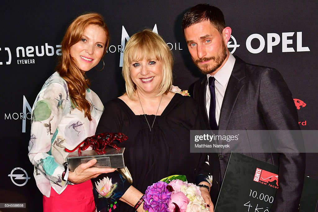 Theresa von Eltz, Patricia Riekel and Clemens Schick during the New Faces Award Film 2015 at ewerk on May 26, 2016 in Berlin, Germany.