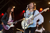 Theresa Wayman and Emily Kokal of Warpaint perform as part of Barclaycard Presents British Summer Time Hyde Park Day 1 at Hyde Park on July 1 2016 in...