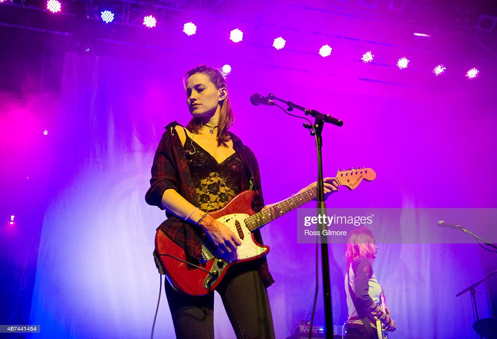 Theresa Wayman of American band Warpaint performs on stage at O2 ABC Glasgow on March 24, 2015 in Glasgow, United Kingdom.