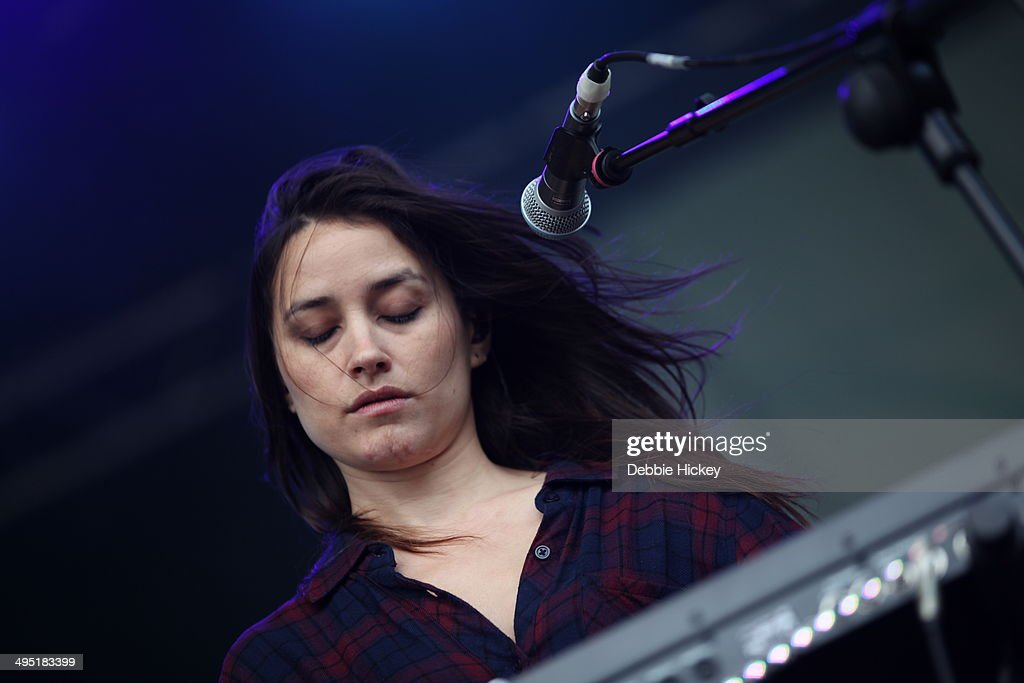 Theresa Wayman of Warpaint performs at day 2 of the Forbidden Fruit festival at Royal Hospital Kilmainham on June 1 2014 in Dublin Ireland