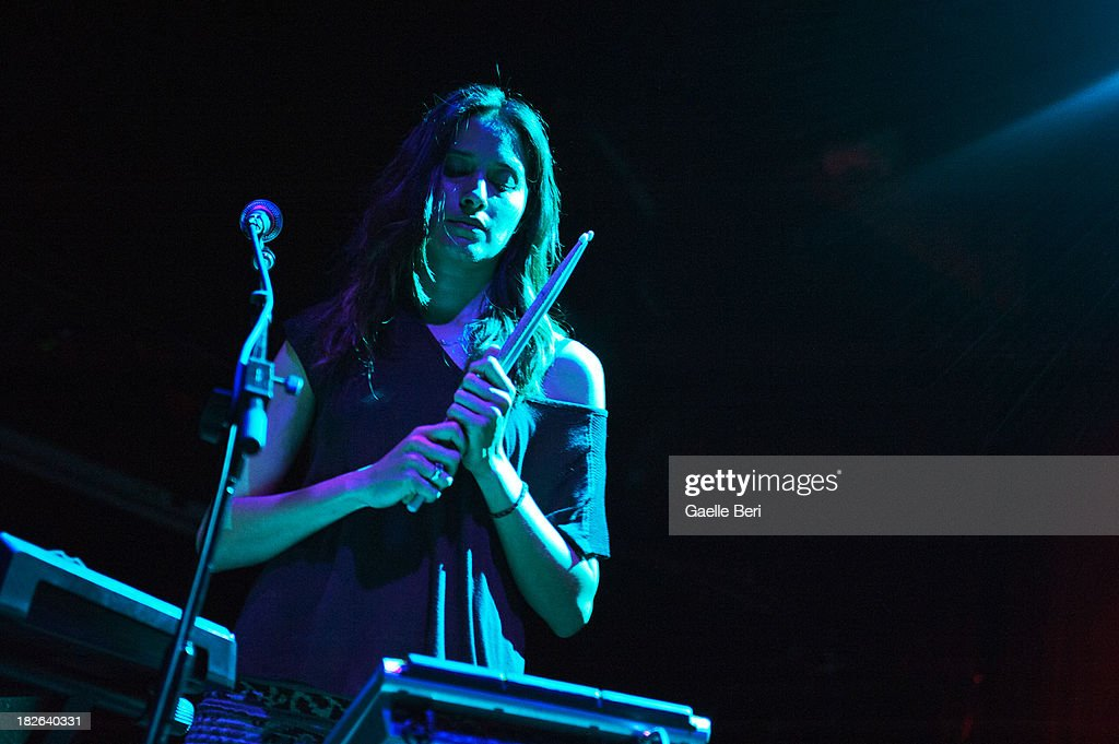 <a gi-track='captionPersonalityLinkClicked' href=/galleries/search?phrase=Theresa+Wayman&family=editorial&specificpeople=5370652 ng-click='$event.stopPropagation()'>Theresa Wayman</a> of Warpaint performs on stage at Music Hall of Williamsburg on October 1, 2013 in New York, New York.