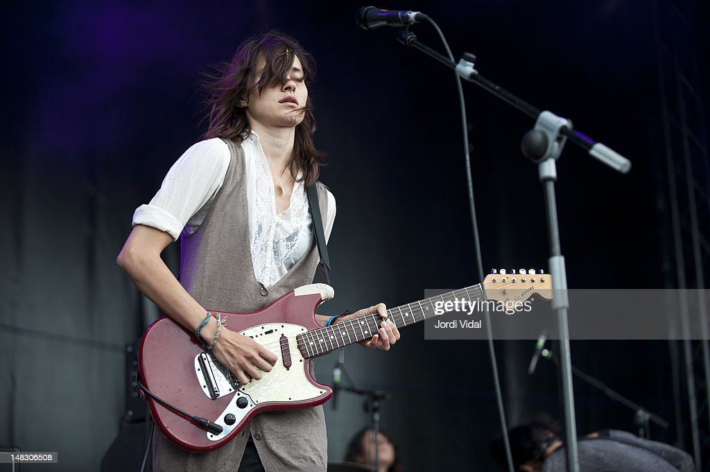 <a gi-track='captionPersonalityLinkClicked' href=/galleries/search?phrase=Theresa+Wayman&family=editorial&specificpeople=5370652 ng-click='$event.stopPropagation()'>Theresa Wayman</a> of Warpaint performs on stage during BBK Live at Kobetamendi on July 13, 2012 in Bilbao, Spain.