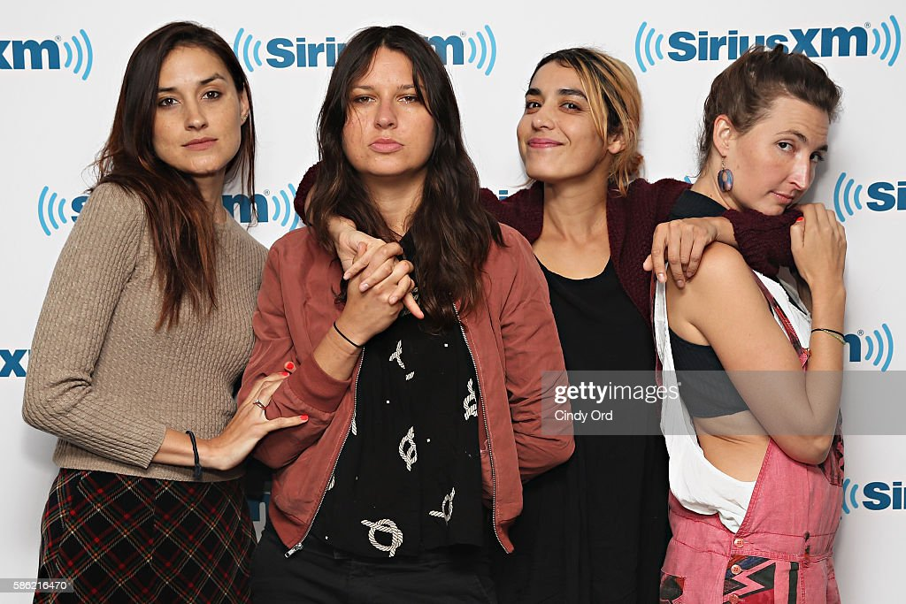 Theresa Wayman, Stella Mozgawa, Jenny Lee Lindberg and Emily Kokal of Warpaint visit the SiriusXM Studios on August 5, 2016 in New York City.