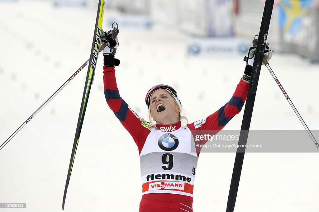 Therese Johaug of Norway takes 2nd place during the FIS Cross-Country World Cup Tour de Ski Women's 10 km on January 8, 2011 in Val di Fiemme, Italy.