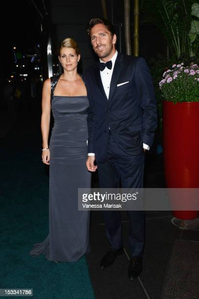 Therese Lundqvist and Henrik Lundqvist attend the 2012 SwedishAmerican Chamber of Commerce New York from Farm to Fork Royal Gala award dinner on...