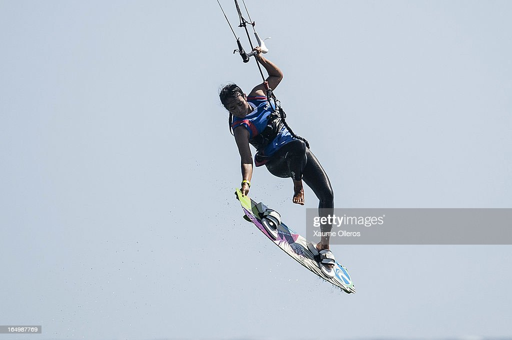 Thereza Havrlandova of Czech Republic competes on freestyle during day five of the KTA at Boracay Island on March 30, 2013 in Makati, Philippines.