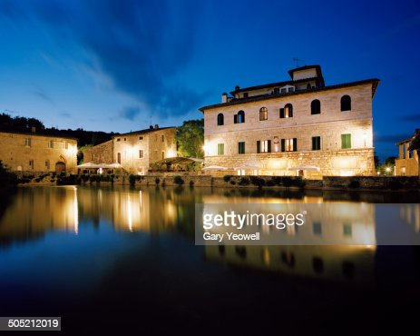 Thermal Bath Of Bagno Vignoni At Night Stock Photo  Getty Images