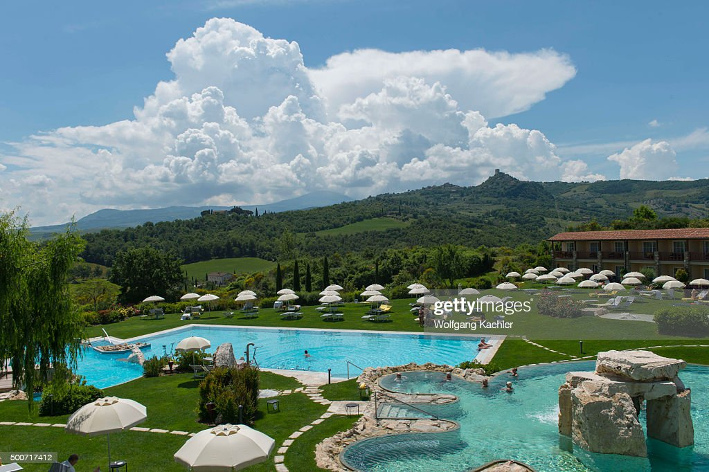 thermal pool at adler thermae spa relax resort in bagno vignoni near san quirico
