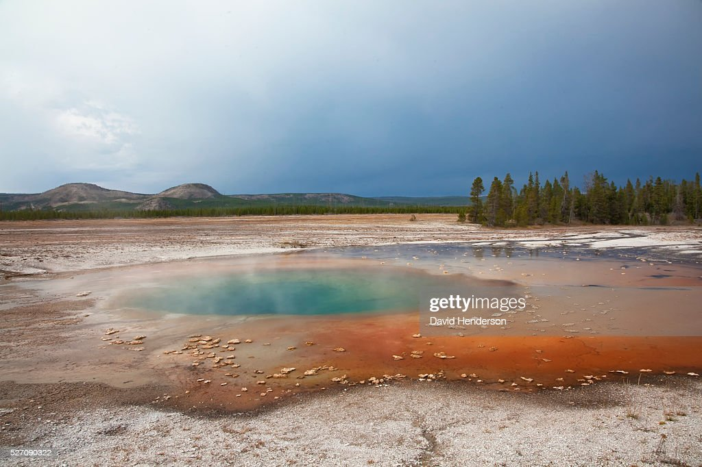 Thermal pool at Midway Geyser Basin, Wyoming, USA : Stock Photo