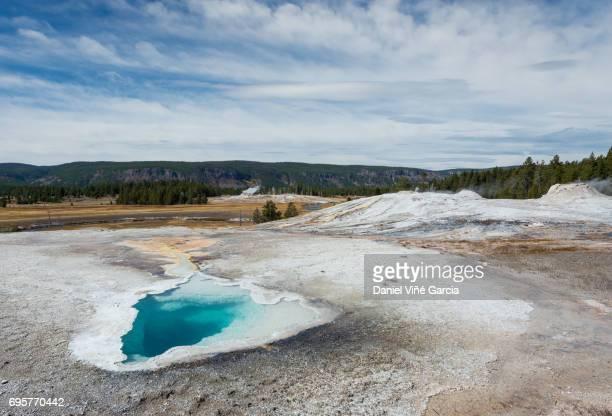 Thermal pool, Midway Geyser Basin, Yellowstone National Park, Teton County, Wyoming.