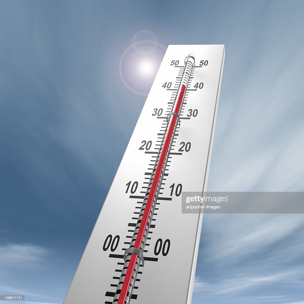 Thermometer at 40 degrees Close-up : Stock Photo