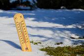 temperature measurement in spring time, ending winter