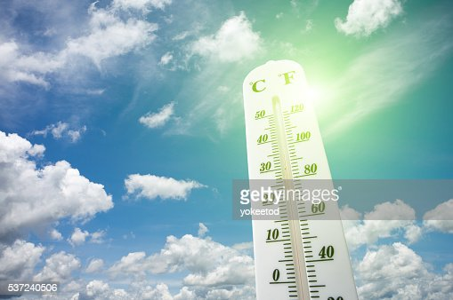 Thermometer on the summer heat : Foto de stock