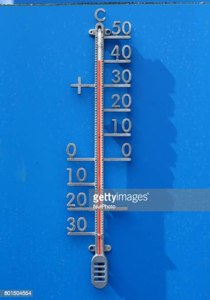 Thermometer Showing 40 during Round Two match on the third day of the ATP Aegon Championships at the Queen's Club in west London on June 21 2017